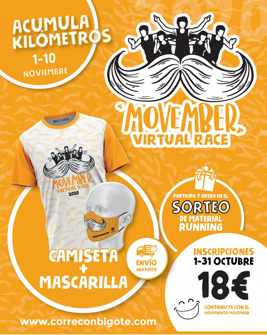 Abiertas inscripciones Corre con Bigote Virtual Race